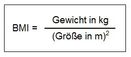 Formel für Bundeswehr Einstellungstest BMI