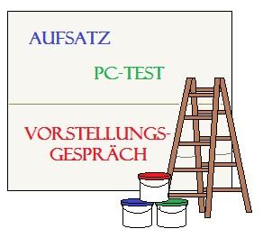 Grafik zum Bundeswehr Maler und Lackierer Einstellungstest