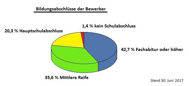 2. Grafik zu Bundeswehr Einstellungstest Durchfallquote